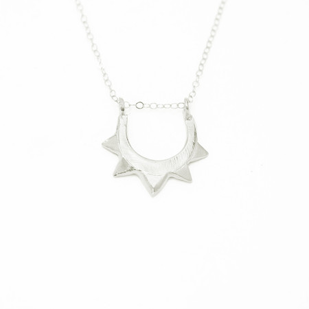 Wolf Circus Maderas Necklace Silver Plated