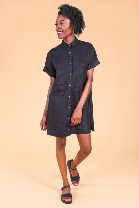 Steven Alan Vista shirtdress in black