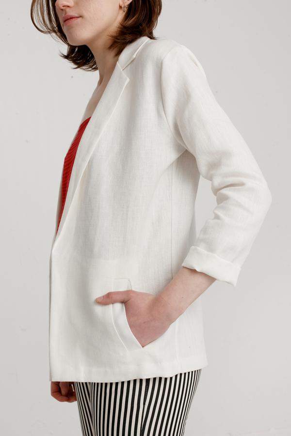 Jesse Kamm - Linen Blazer - Salt White