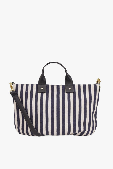 Clare V. Messenger bag in mariner stripe