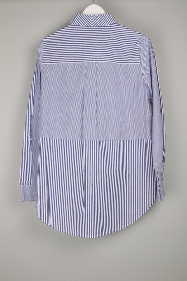 10 Crosby by Derek Lam Shirt W/ Back Tail Blue/White