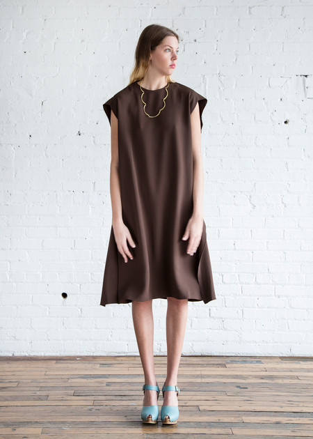 A Détacher Louise Dress Chocolate