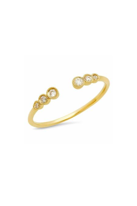 Sachi Jewelry Triple Bezel Cuff Ring