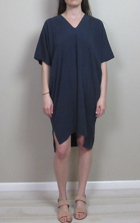 7115 by Szeki v-Neck Dolman Dress