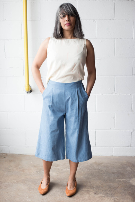 Amanda Moss Patsy Culottes - Faded Denim