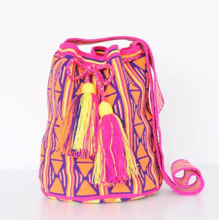 Shop Mariya Neon Purple + Orange Mochila - M
