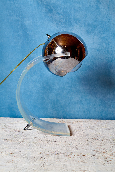 Coming Soon Chrome and Lucite Lamp