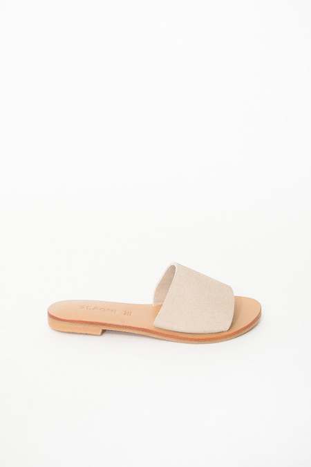 St. Agni Aiko Basic Slides - Sand Leather