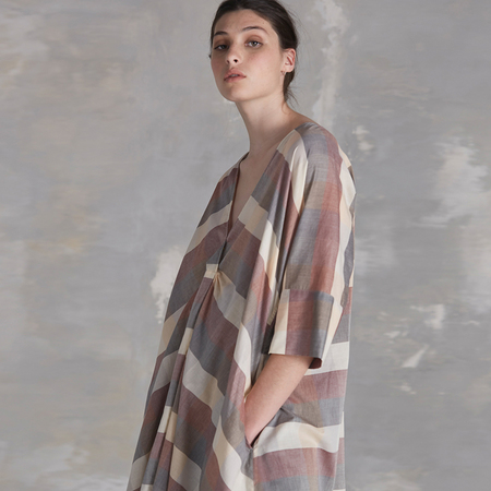 Kowtow Compass dress - check
