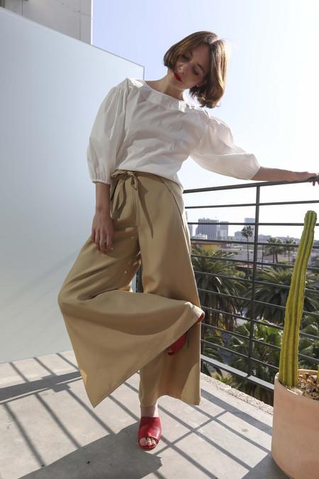 Maryam Nassir Zadeh Bettina Wrap Pants in Tan