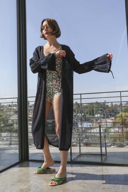 Sayaka Davis Summer Knit Robe in Navy