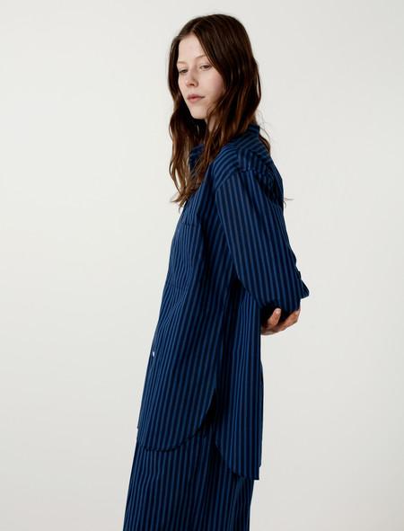 Cristaseya Mao Shirt II Blue Navy Stripes (W)