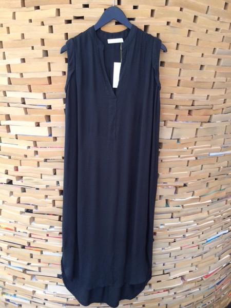 Rabens Saloner Denice Kaftan Dress in Faded Black