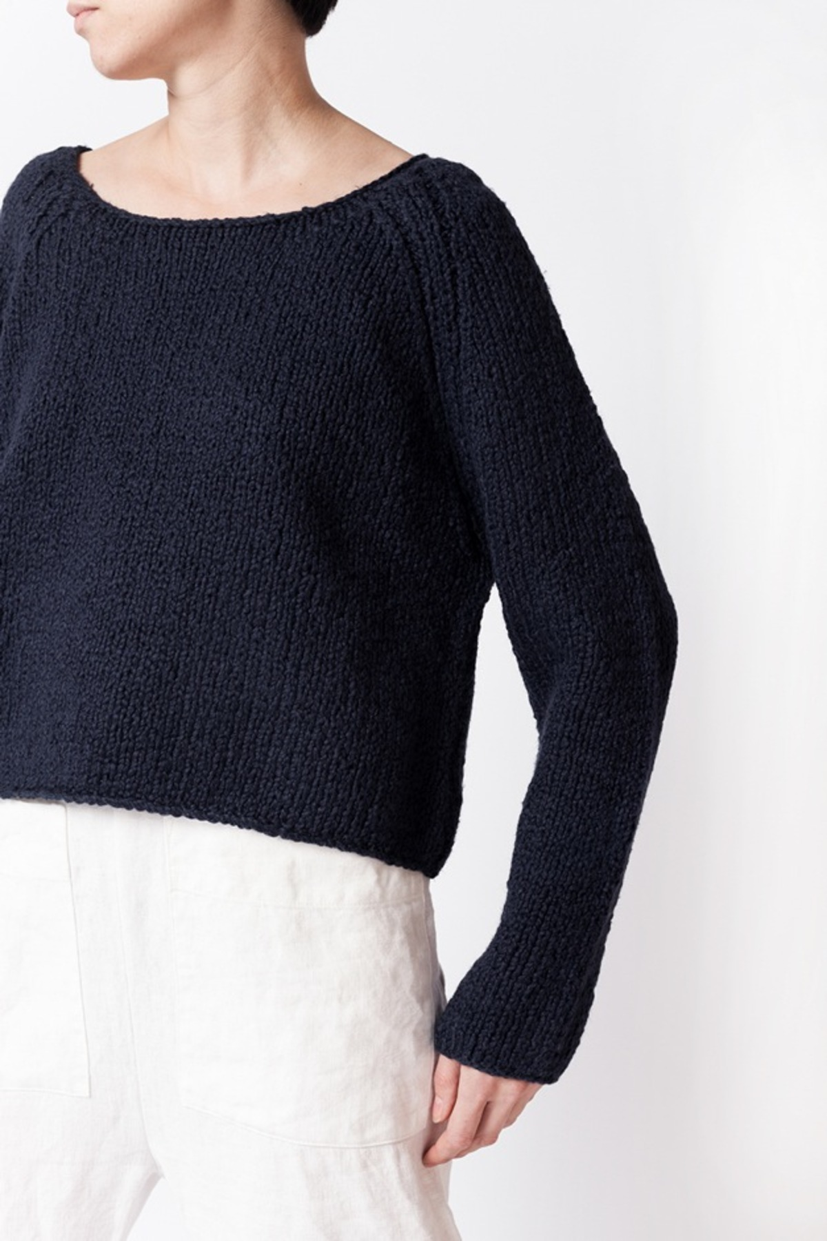 Apiece Apart Cropped Cotton Sweater | Garmentory