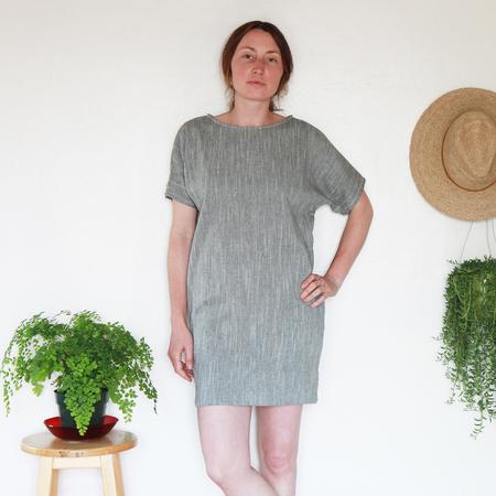 Me & Arrow Sleeve Dress - Olive Cotton