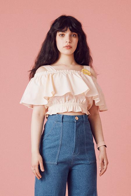 Samantha Pleet Canopy Blouse - Blush
