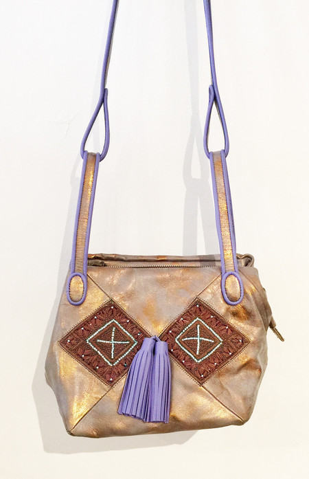 Meher Kakalia Bunny Bag Small - Gold Bronze Lavender