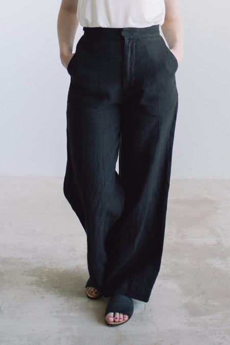 Esby Apparel Val Linen Crop Pant