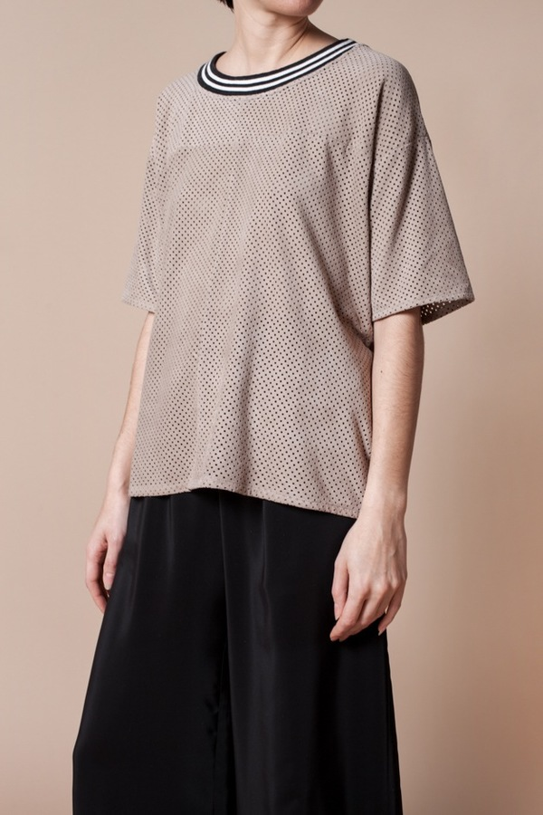 Fine Collection Suede T-Shirt