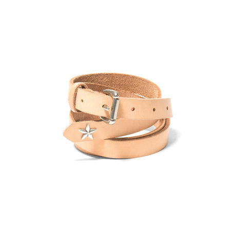 Maple Long Belt Star Concho - Natural