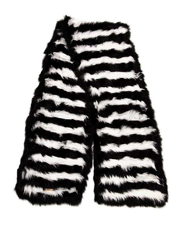 C/Fan Waldo Scarf, Black & White