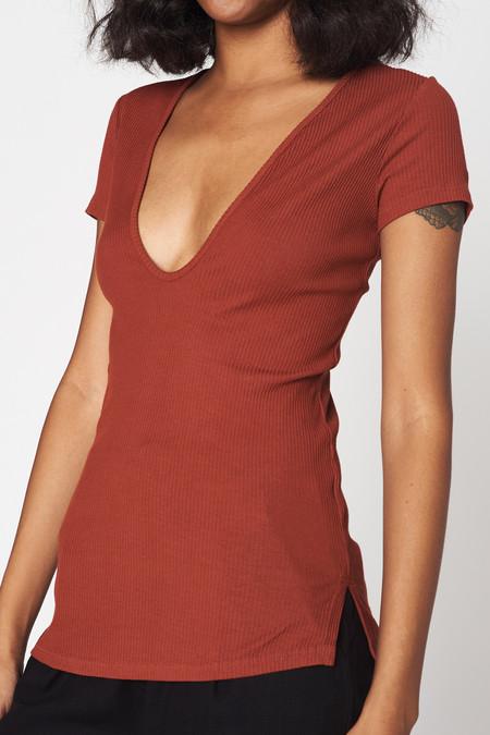 Lacausa Clothing Rib Scoop T