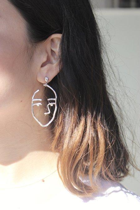Open House Projects Sister Earrings in Silver