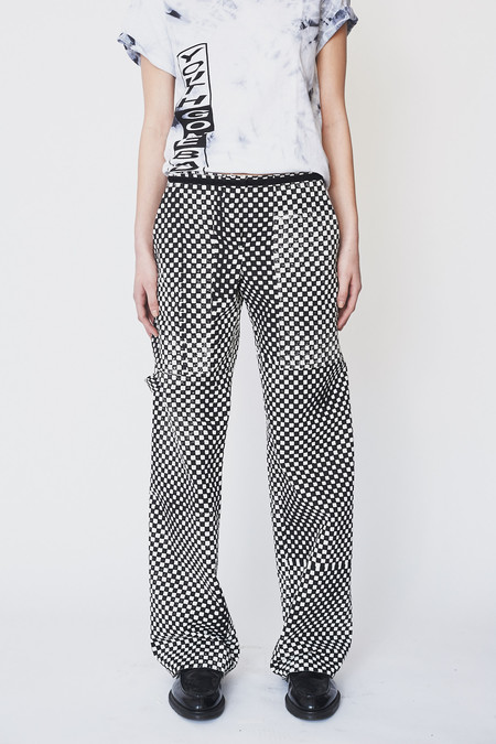 Assembly New York Cotton Checkered Denim Simple Pant
