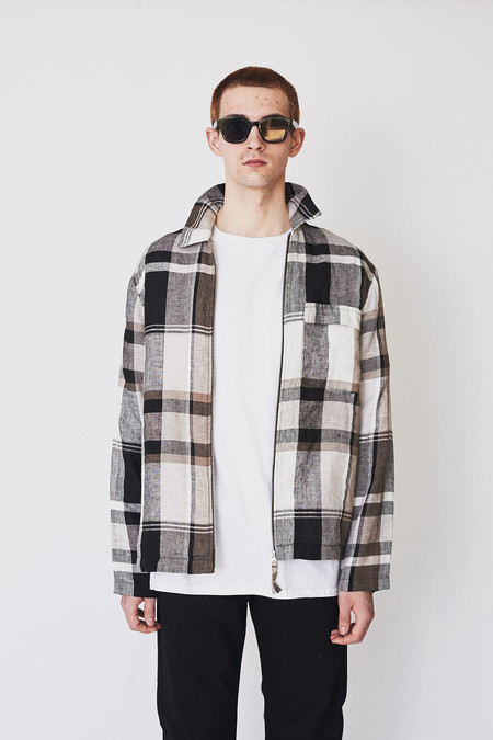 Our Legacy Linen Line Check Jacket