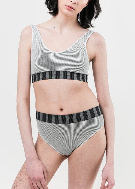 Baserange Stripe Seamless U Top