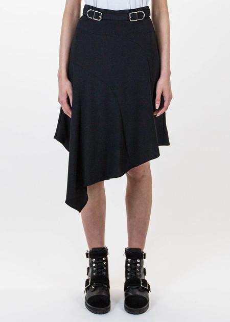 Carven Black Buckled Lingerie Skirt