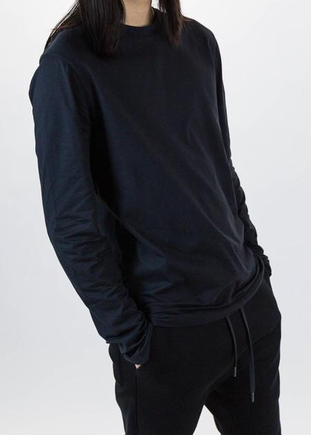Helmut Lang Black Long Sleeve Tee Brushed Jersey - black