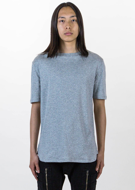 Helmut Lang Grey SS Tee Brushed Jersey