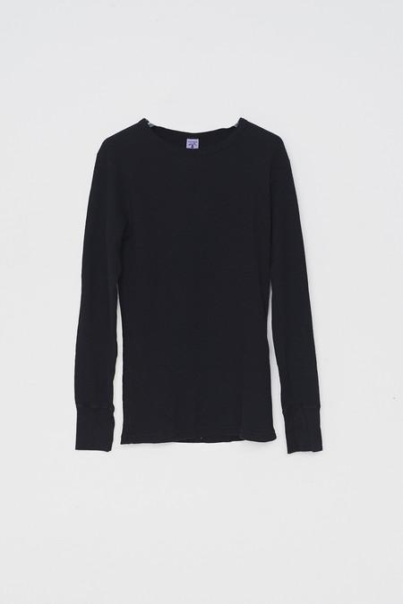 Velva Sheen Cotton Black Indigo Thermal Top