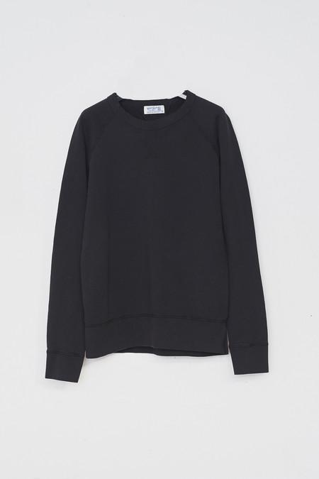 Velva Sheen Cotton Raglan Sweatshirt - Black