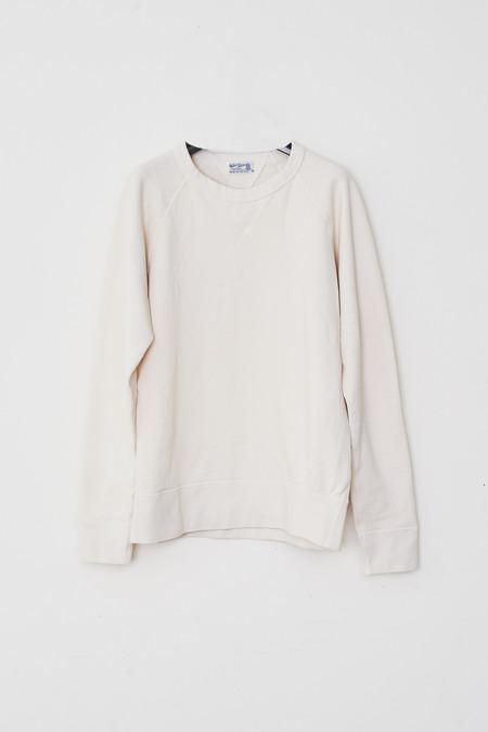 Velva Sheen Cotton Raglan Sweatshirt - White