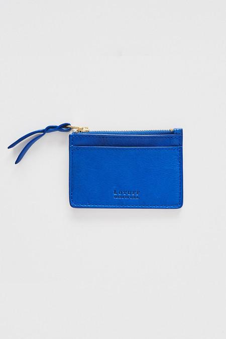 Lotuff Leather Zipper Credit Card Wallet