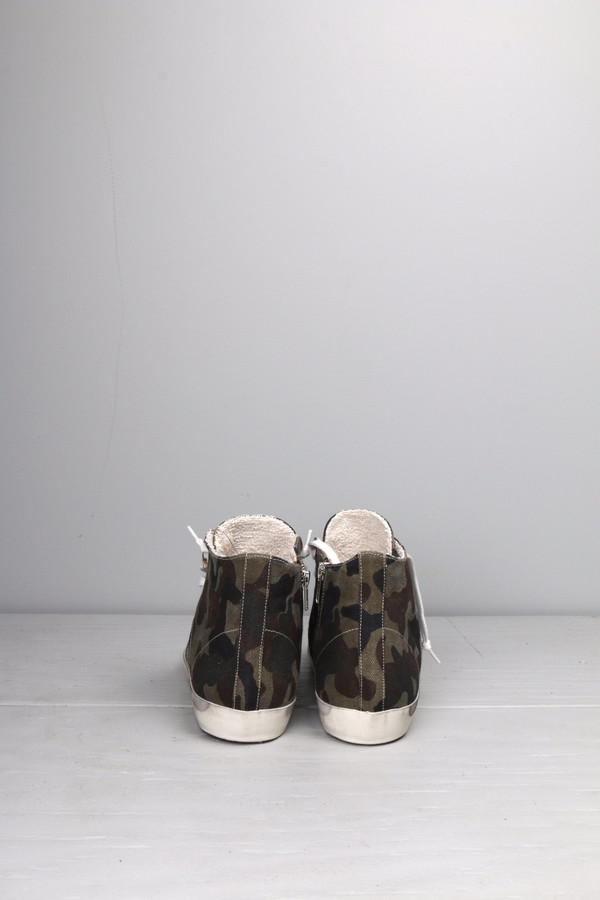 Leather Crown Camo High Top