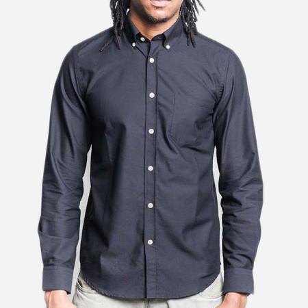 Portuguese Flannel Belavista Long-Sleeve Oxford Shirt - Black