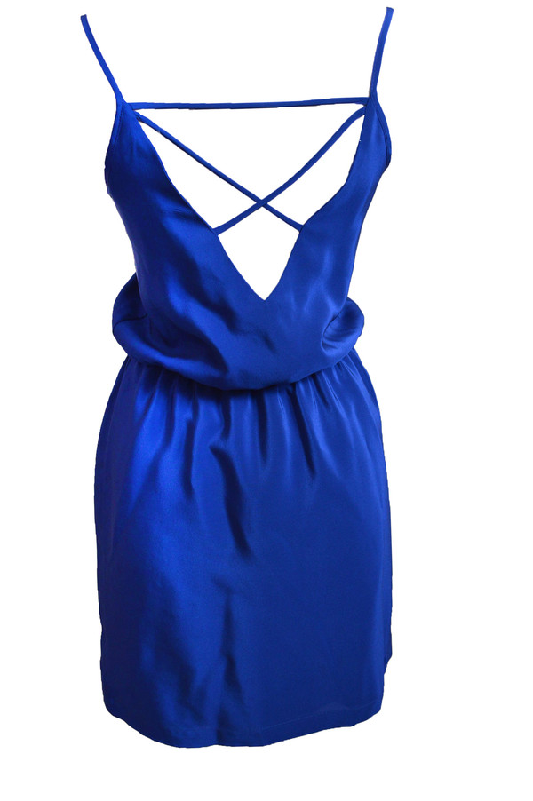 Amanda Uprichard Ashton Dress in Sapphire