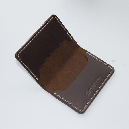DW Leatherworks Folded Card Wallet (3 slots) - Brown