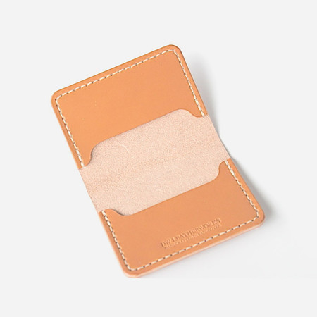 DW Leatherworks Folded Card Wallet (3 slots) - Tan