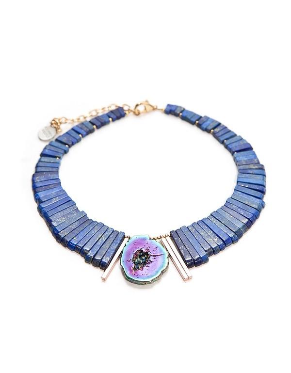 Gemma Redux Rainbow Agate Slice Necklace