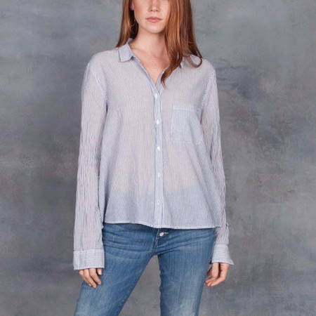 Xirena Easton Long Sleeve Blouse in True Blue