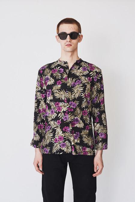 unisex ZED Linen Pullover Shirt - Floral