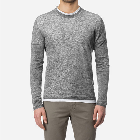 Woolrich John Rich & Bros. Linen Crew Neck Sweater - Medium Grey Melange