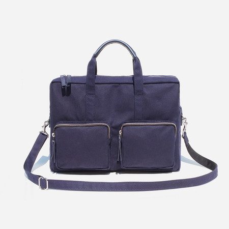 Woolfell Messenger Pocket - Navy Canvas