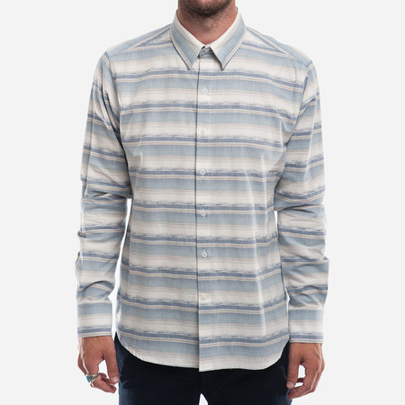 18 Waits The Dylan Shirt (L/S) - Desert Stripes