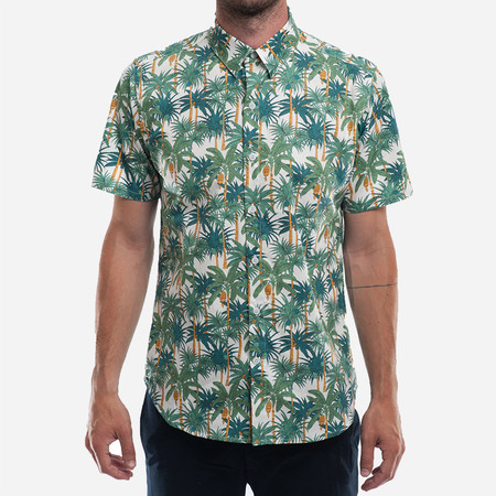 18 Waits The Dylan Shirt (S/S) - White Palms