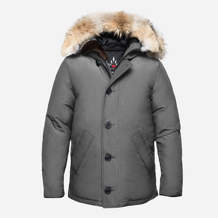 Men's Arctic Bay Toronto City Parka - Steel Grey
